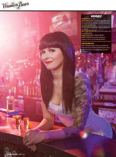 Our bartender Krissy featured in Maximum Magazine