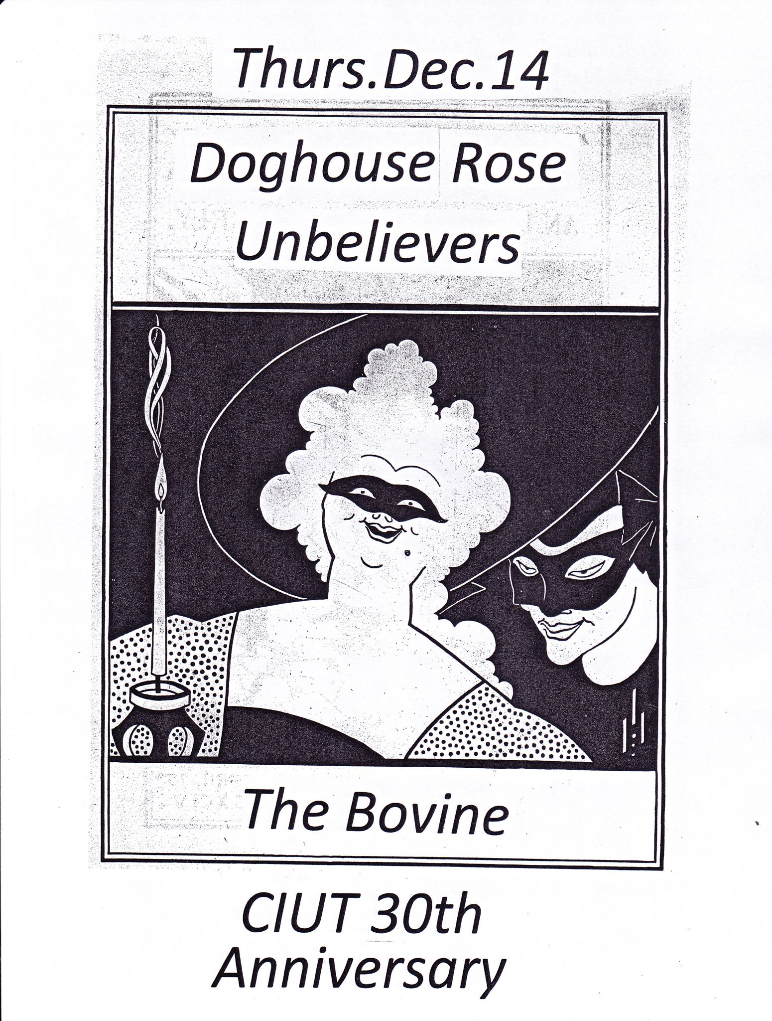 Doghouse Rose & Unbelievers at the Bovine