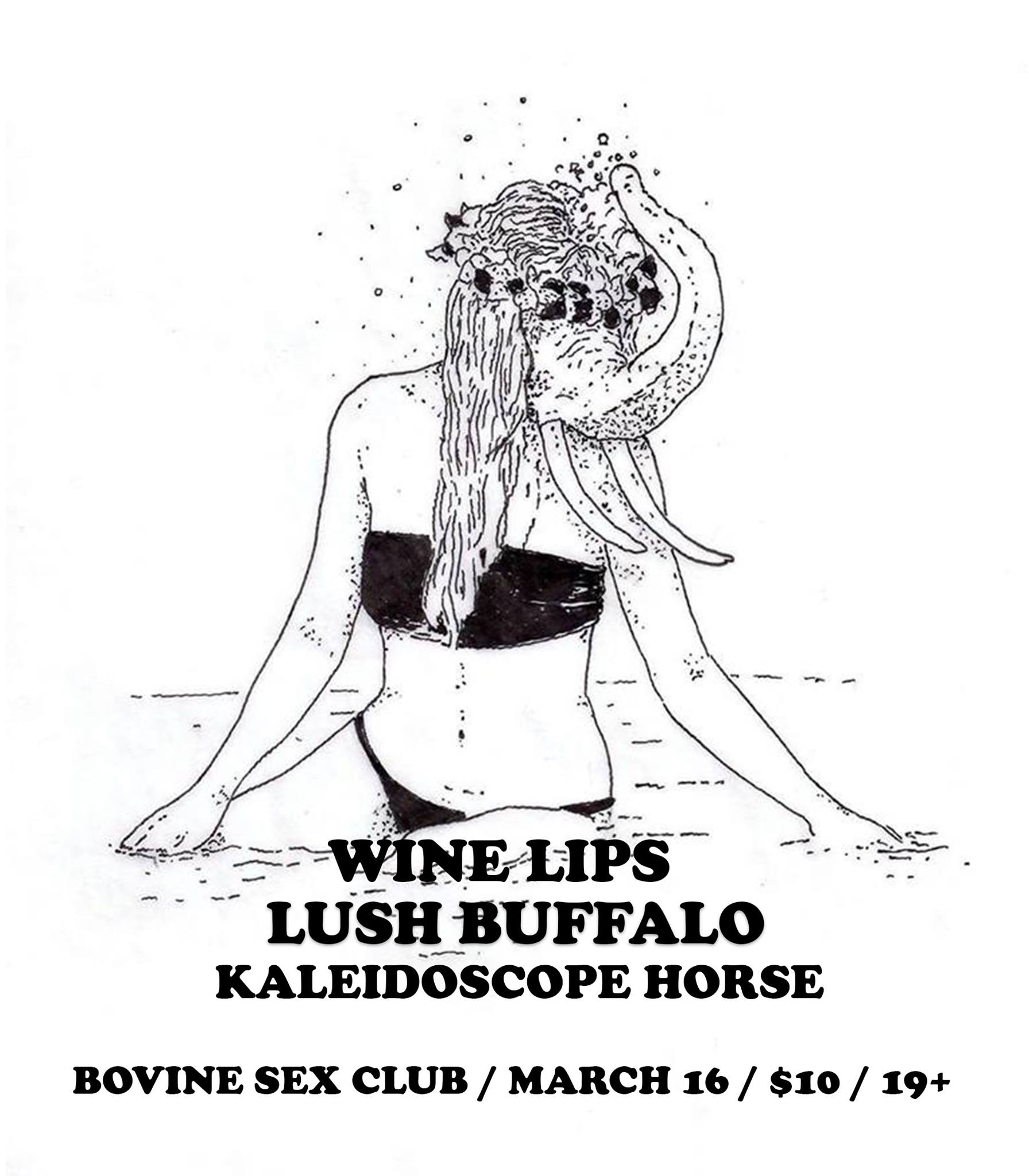 Wine Lips / Lush Buffalo / Kaleidoscope Horse