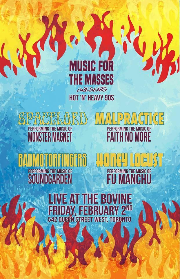Spacelord/Badmotorfingers/Malpractice/Honey Locust- Feb 2 Bo