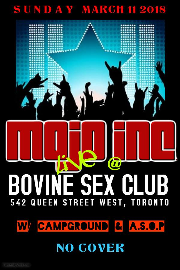 MOJO Inc. at The Bovine! With Campground & ASOP. Free show!