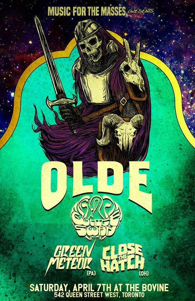 Olde/The White Swan/Close The Hatch/Green Meteor - Apr 7 @Bo