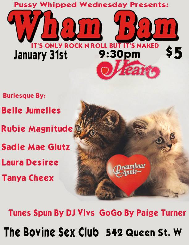 Pussy Whipped Wednesdays Presents Wham Bam