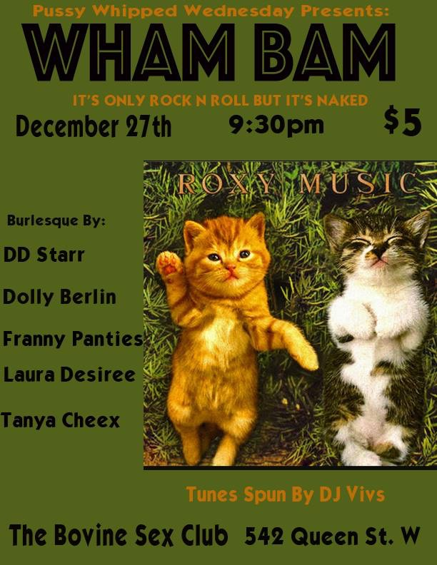 Pussy Whipped Wednesdays Presents: WHAM BAM!