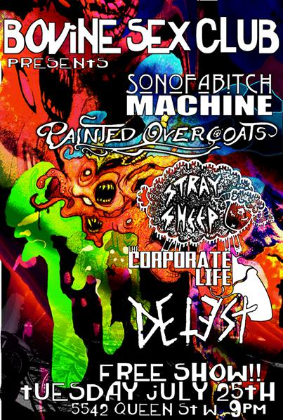 son of a bitch machine painted overcoats & many other bands