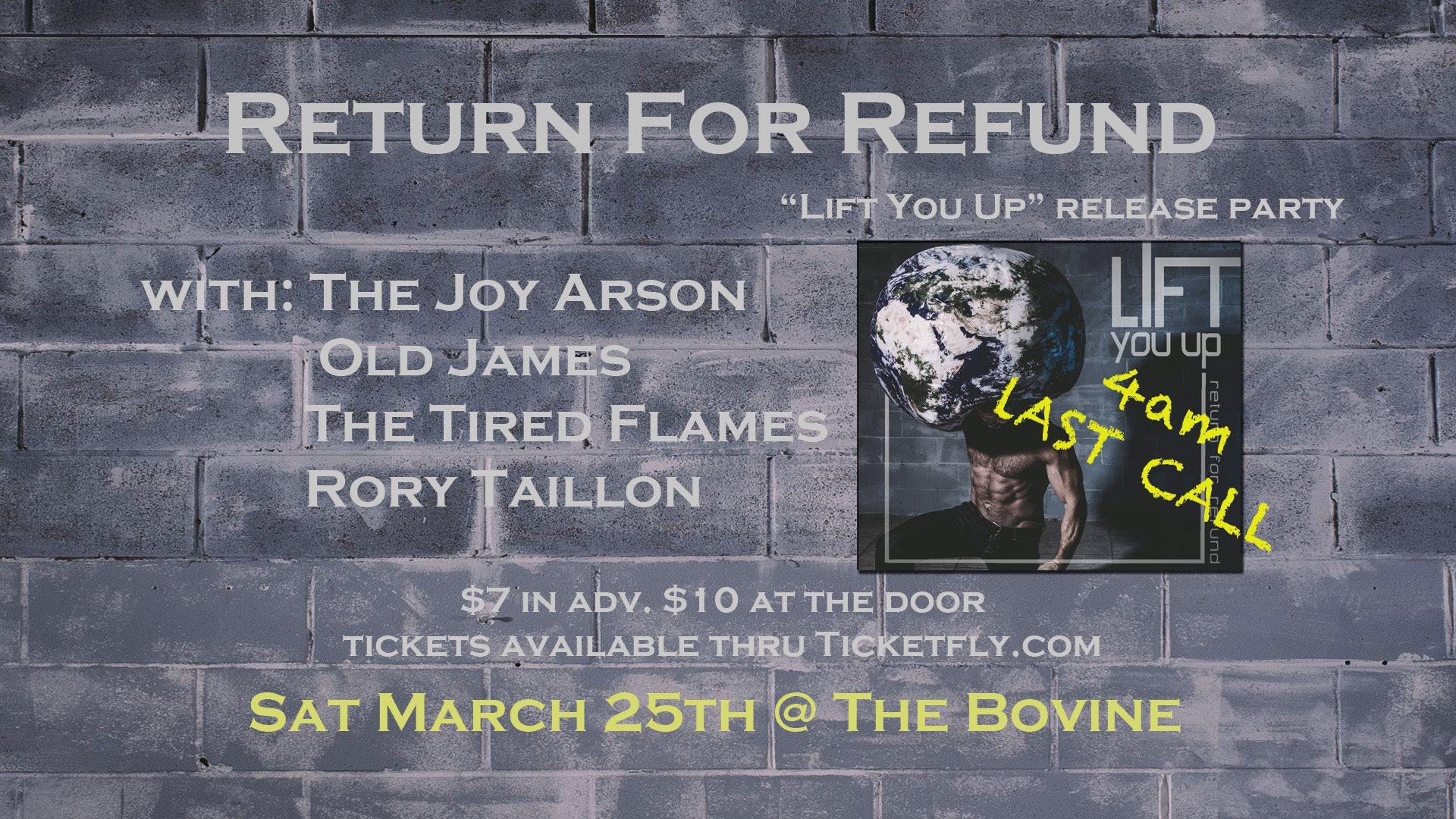 Return for Refund * 4am Last Call*